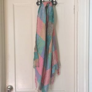 Multicolored soft scarf